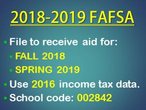 File the 2018-2019 FAFSA