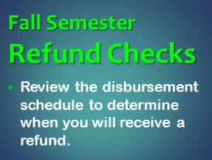 Disbursement and Refund Schedule