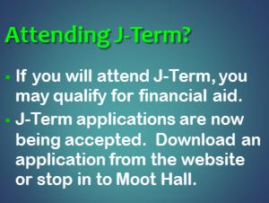 Attending J-Term?