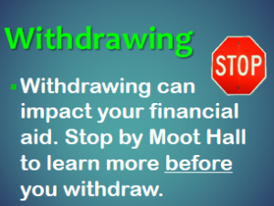 Visit the Financial Aid Office Before Withdrawing from Courses