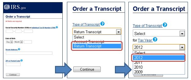 Steps to order transcript